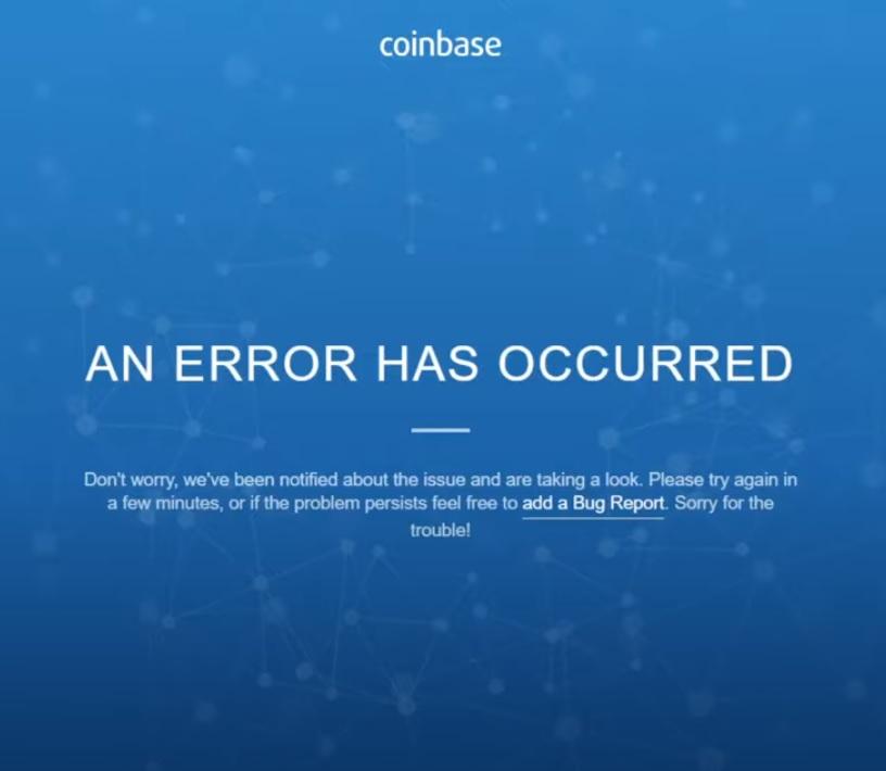 仮想通貨が大暴落!ビットコイン下落でコインベースがアクセスできなくなった!